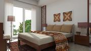 Classic Bedroom  Scene 3d model