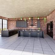 Fullt parametriskt kök skapat i revision 3d model
