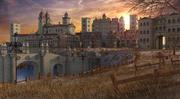 Fantasy mittelalterliche Stadt 3d model