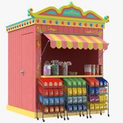 Cabine de quiosque de doces 3d model