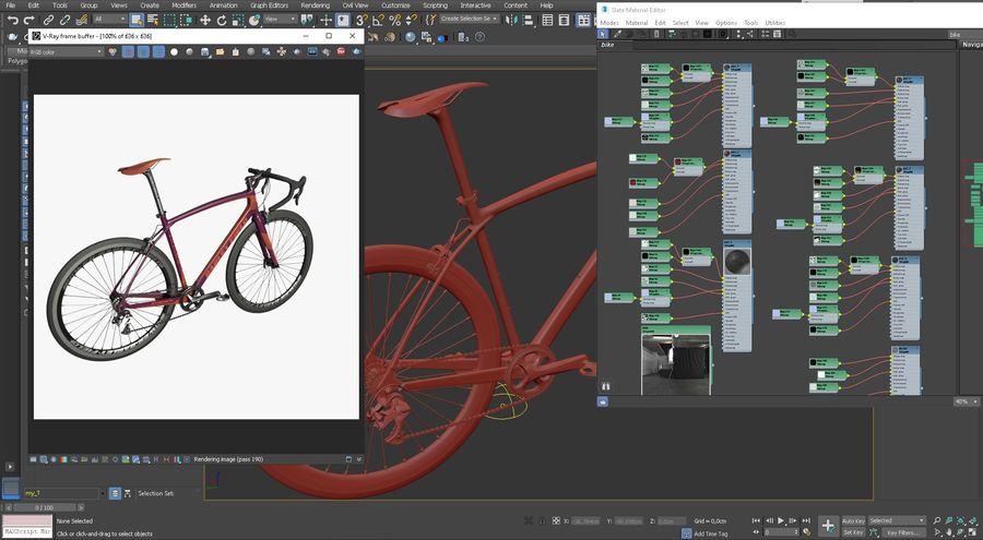 Road Bike royalty-free 3d model - Preview no. 17