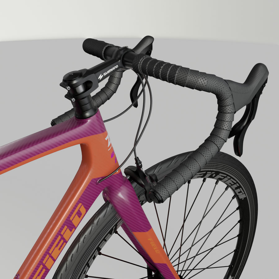 Road Bike royalty-free 3d model - Preview no. 3