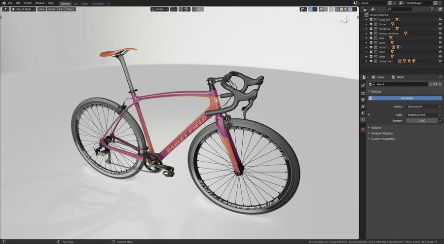 Road Bike royalty-free 3d model - Preview no. 15