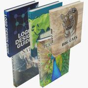 Colección de libros modernos modelo 3d