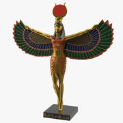 Isis Ancient Egyptian Goddess Statue 3d model
