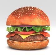 3D Burger 02 3d model