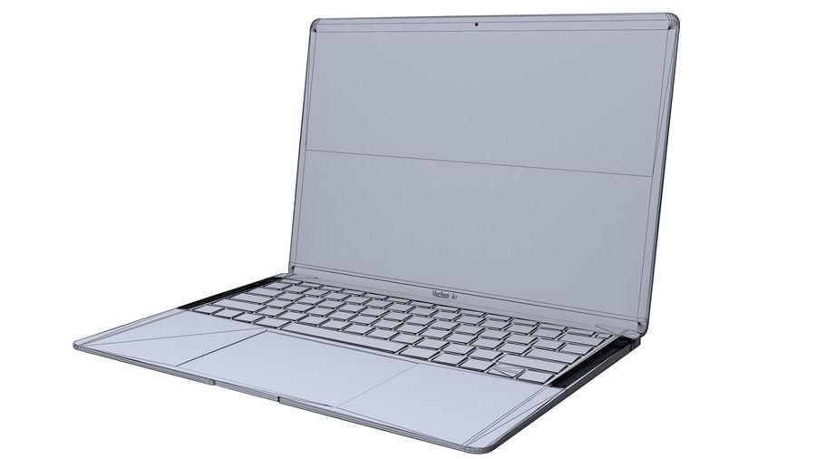 苹果MacBook Air 13英寸和MacBook Pro 15英寸A1707 royalty-free 3d model - Preview no. 13