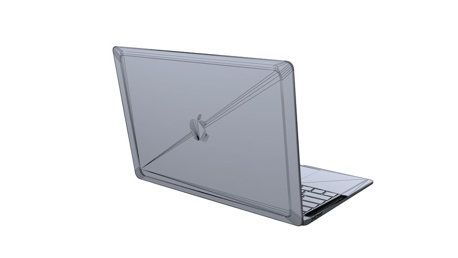 苹果MacBook Air 13英寸和MacBook Pro 15英寸A1707 royalty-free 3d model - Preview no. 14