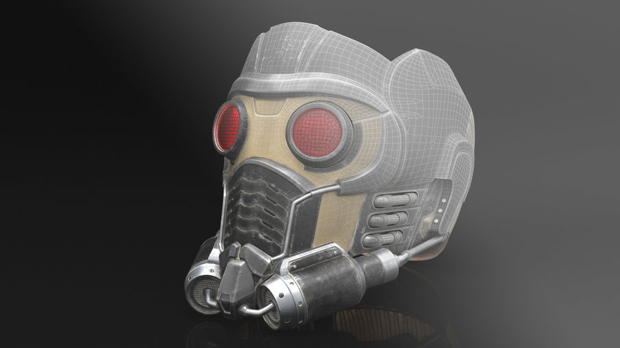 Maschera Star-Lord royalty-free 3d model - Preview no. 10