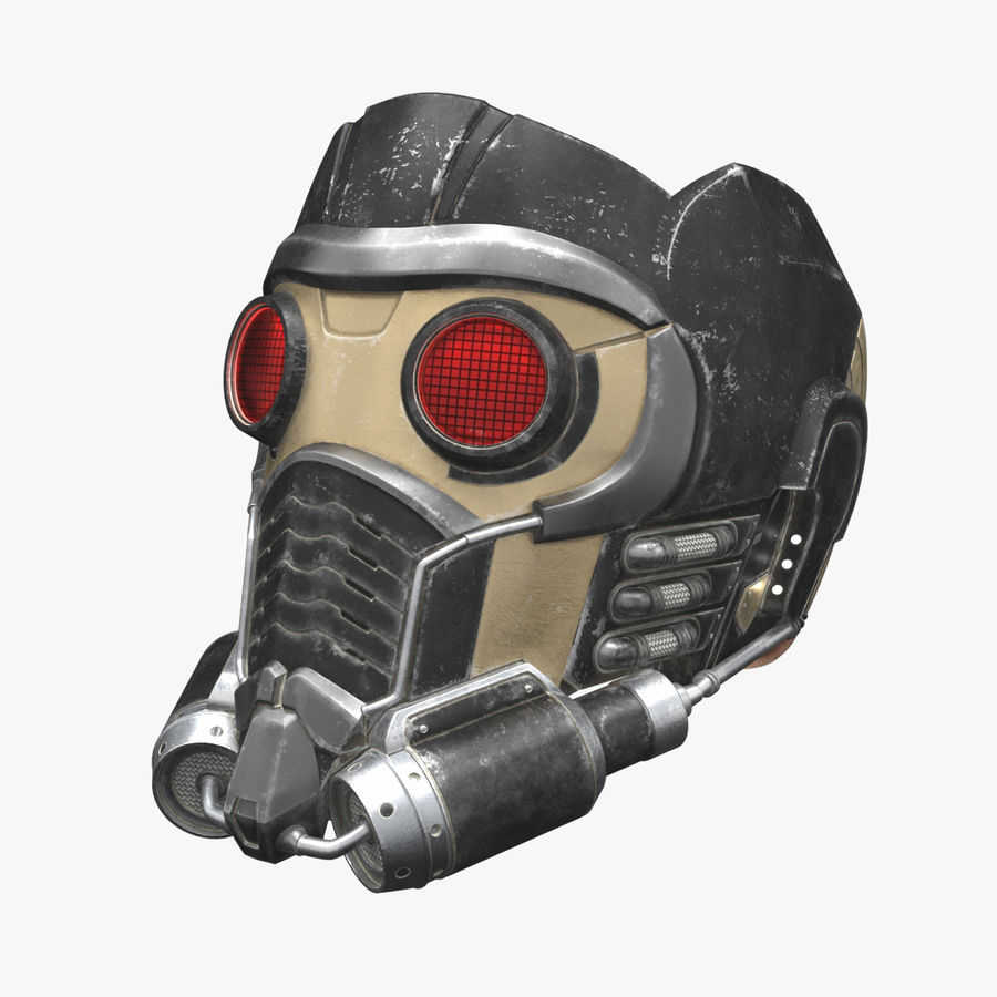 Maschera Star-Lord royalty-free 3d model - Preview no. 1