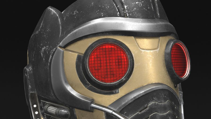 Maschera Star-Lord royalty-free 3d model - Preview no. 9