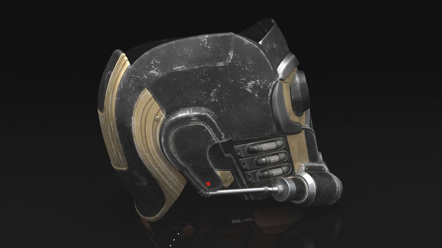 Maschera Star-Lord royalty-free 3d model - Preview no. 4