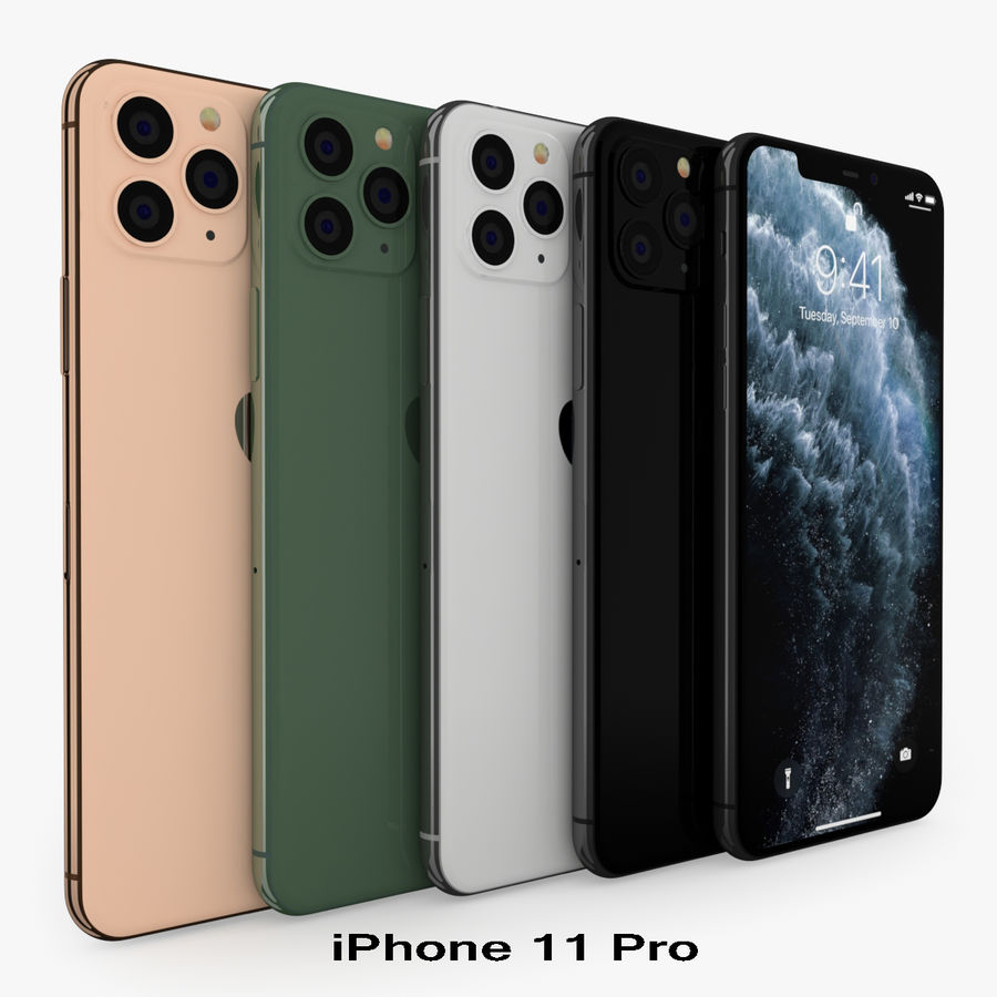 Collezione Apple Electronics 2019-2020 royalty-free 3d model - Preview no. 52