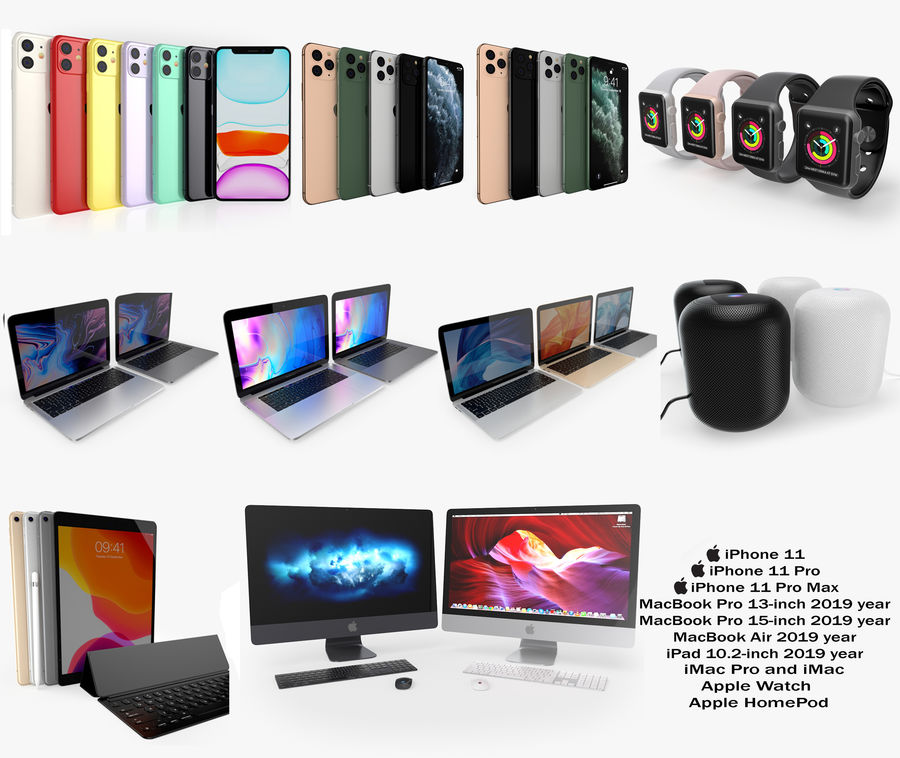 Apple Electronics Koleksiyon 2019-2020 royalty-free 3d model - Preview no. 1