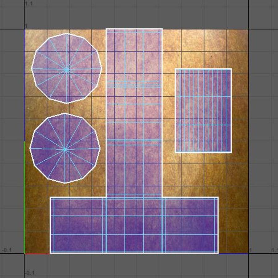 Scatola del petto royalty-free 3d model - Preview no. 25
