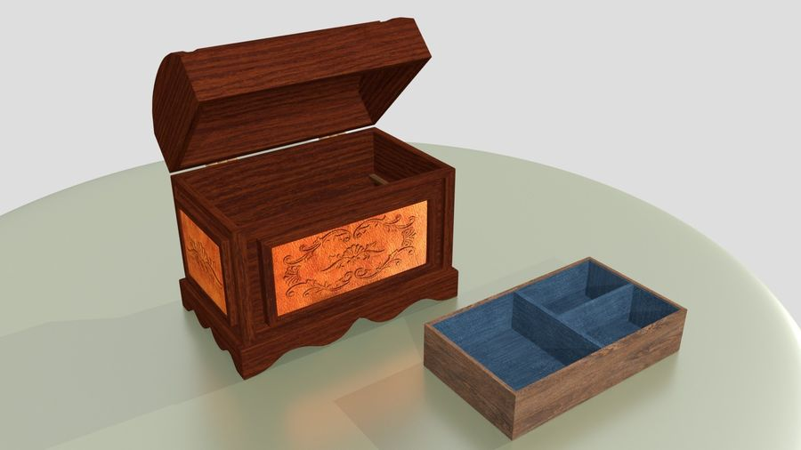 Scatola del petto royalty-free 3d model - Preview no. 8