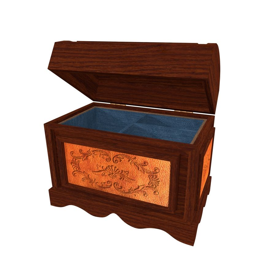 Scatola del petto royalty-free 3d model - Preview no. 1
