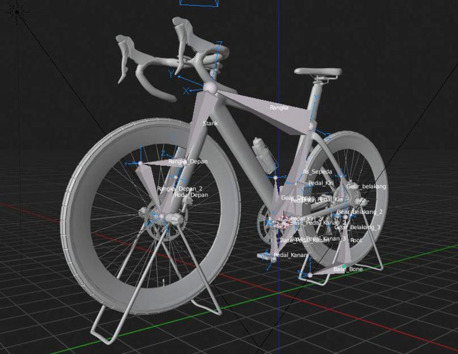 Bicyle Road Bike royalty-free 3d model - Preview no. 16