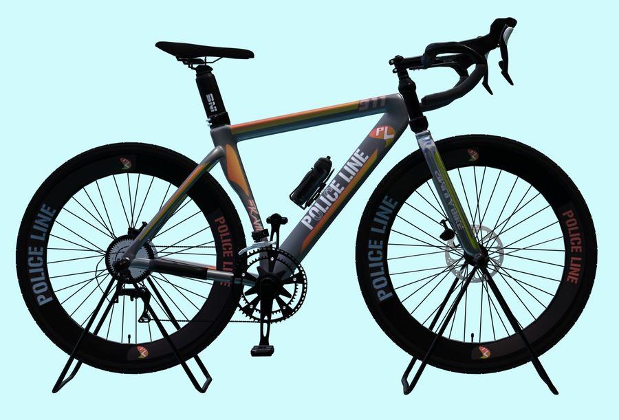 Bicyle Road Bike royalty-free 3d model - Preview no. 1