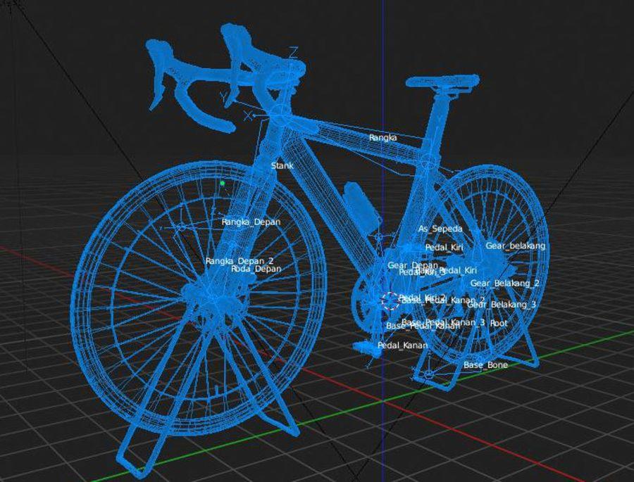 Bicyle Road Bike royalty-free 3d model - Preview no. 17