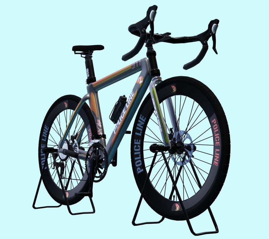 Bicyle Road Bike royalty-free 3d model - Preview no. 3