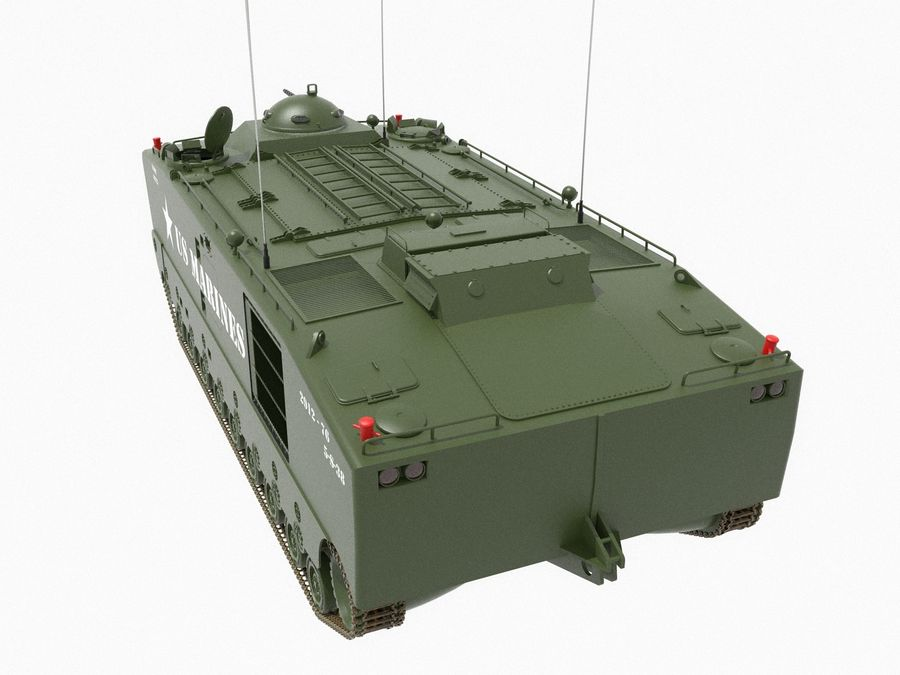 Amtrack LVTP-5 미국 해병대 양서류 royalty-free 3d model - Preview no. 3