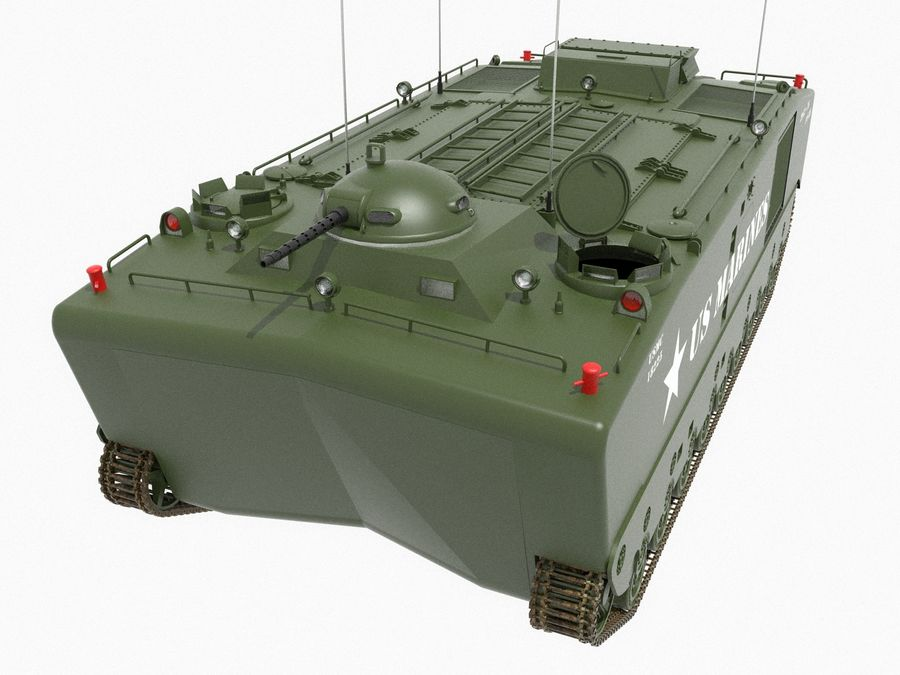 Amtrack LVTP-5 미국 해병대 양서류 royalty-free 3d model - Preview no. 4