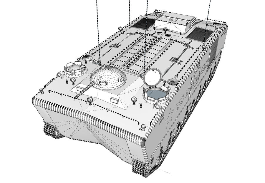 Amtrack LVTP-5 미국 해병대 양서류 royalty-free 3d model - Preview no. 8