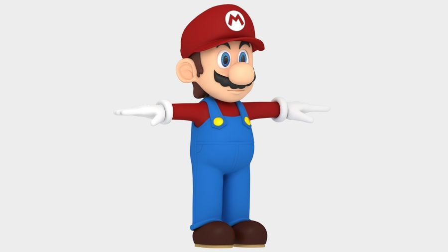Süper Mario Karakter Arma royalty-free 3d model - Preview no. 14
