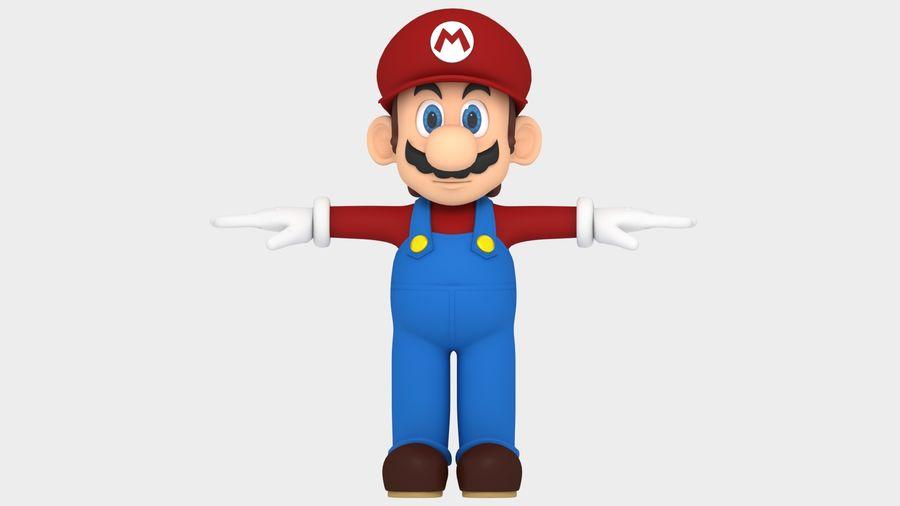 Süper Mario Karakter Arma royalty-free 3d model - Preview no. 11