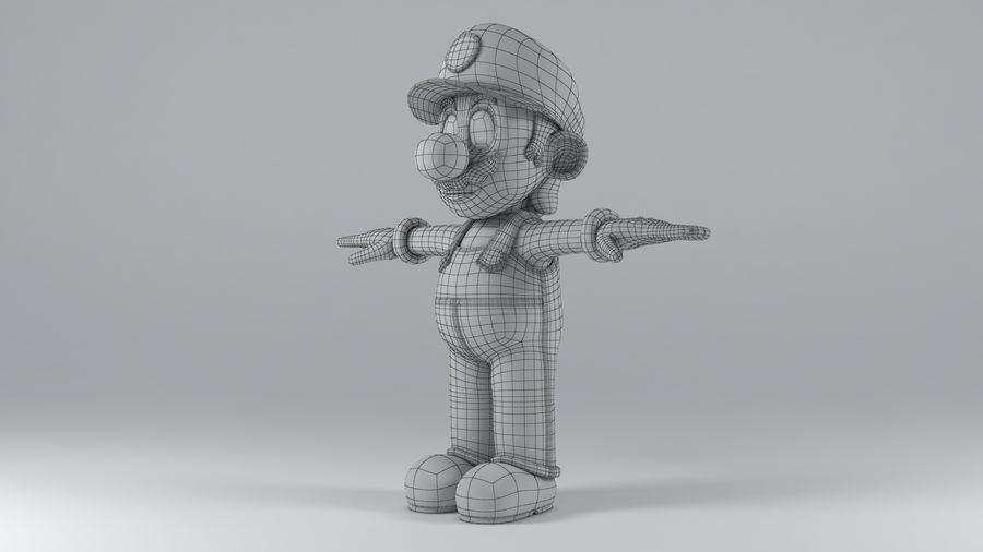 Süper Mario Karakter Arma royalty-free 3d model - Preview no. 18