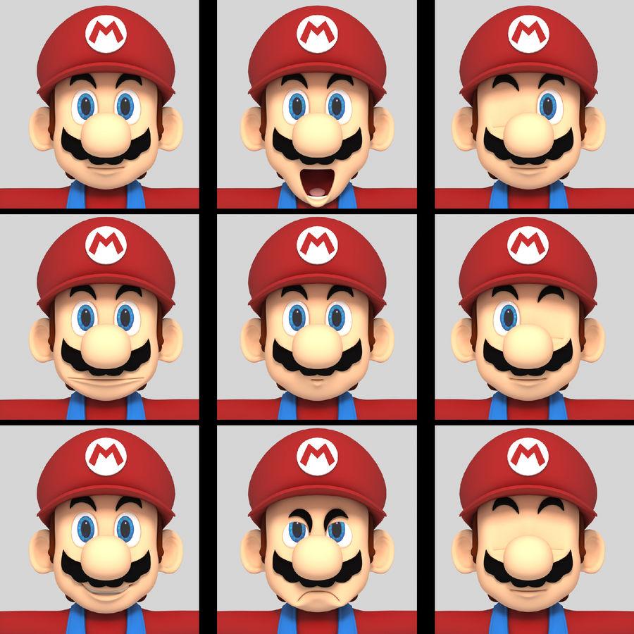Süper Mario Karakter Arma royalty-free 3d model - Preview no. 10