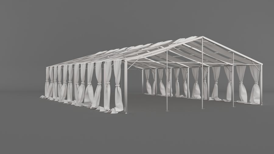 Event Tent V3 royalty-free 3d model - Preview no. 8