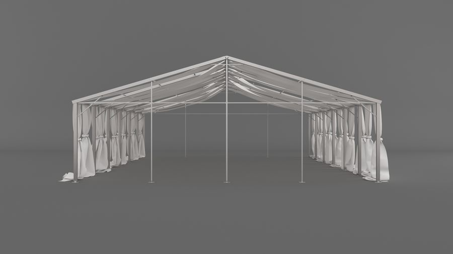 Event Tent V3 royalty-free 3d model - Preview no. 4
