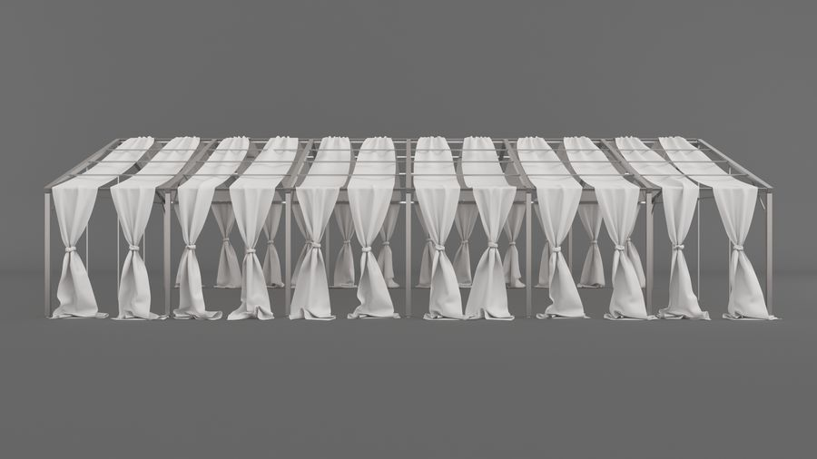 Event Tent V3 royalty-free 3d model - Preview no. 3
