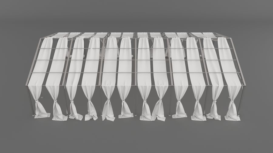 Event Tent V3 royalty-free 3d model - Preview no. 11