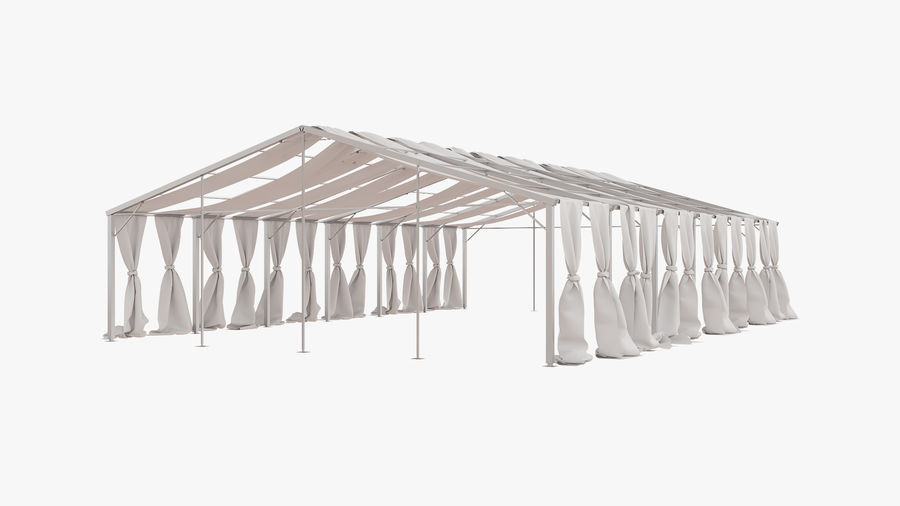 Event Tent V3 royalty-free 3d model - Preview no. 2