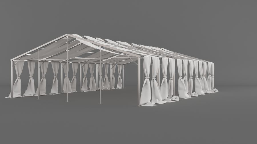 Event Tent V3 royalty-free 3d model - Preview no. 9