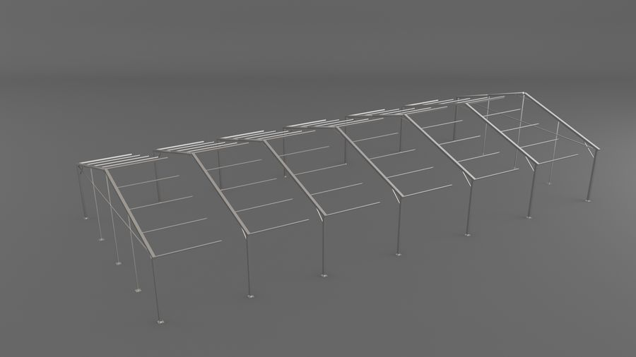 Event Tent V3 royalty-free 3d model - Preview no. 5
