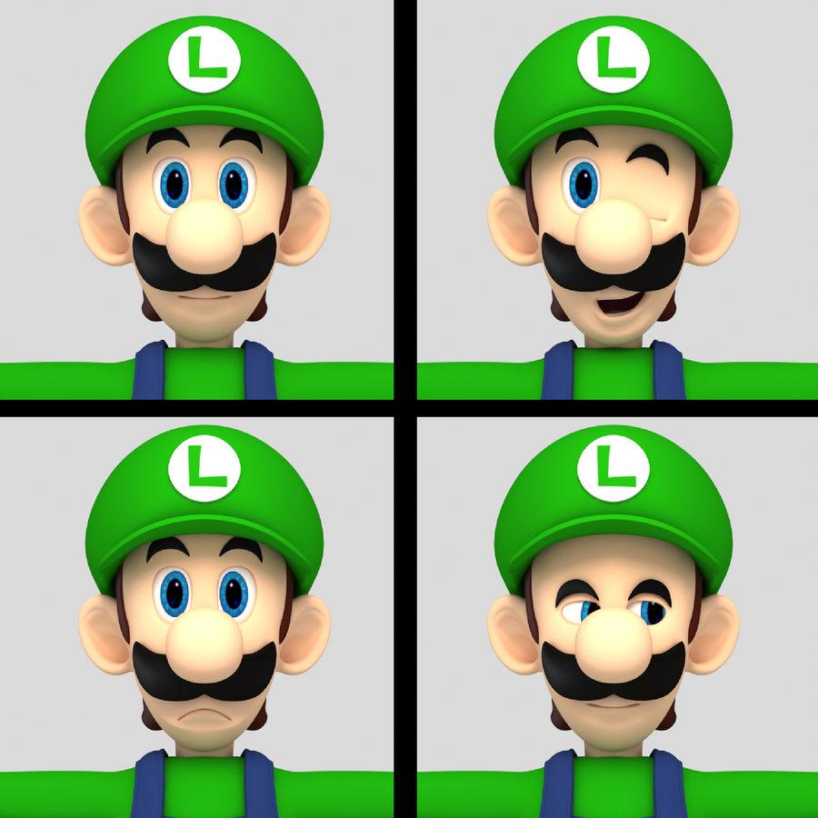 Personaggio Luigi truccato royalty-free 3d model - Preview no. 13