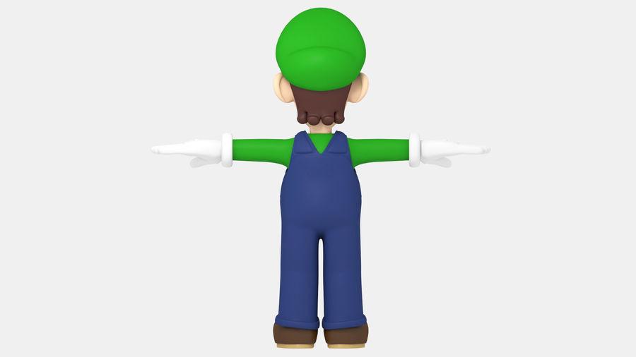 Personaggio Luigi truccato royalty-free 3d model - Preview no. 12
