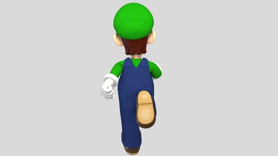 Personaggio Luigi truccato royalty-free 3d model - Preview no. 8