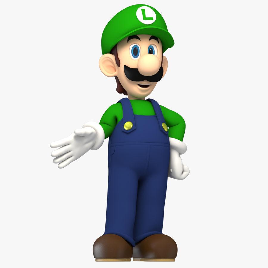 Personaggio Luigi truccato royalty-free 3d model - Preview no. 1