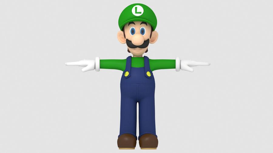Personaggio Luigi truccato royalty-free 3d model - Preview no. 10
