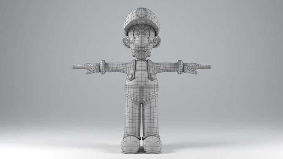 Personaggio Luigi truccato royalty-free 3d model - Preview no. 16