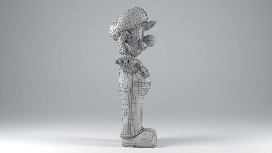 Personaggio Luigi truccato royalty-free 3d model - Preview no. 17