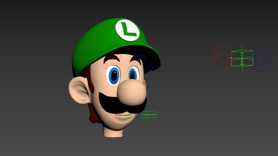 Personaggio Luigi truccato royalty-free 3d model - Preview no. 14