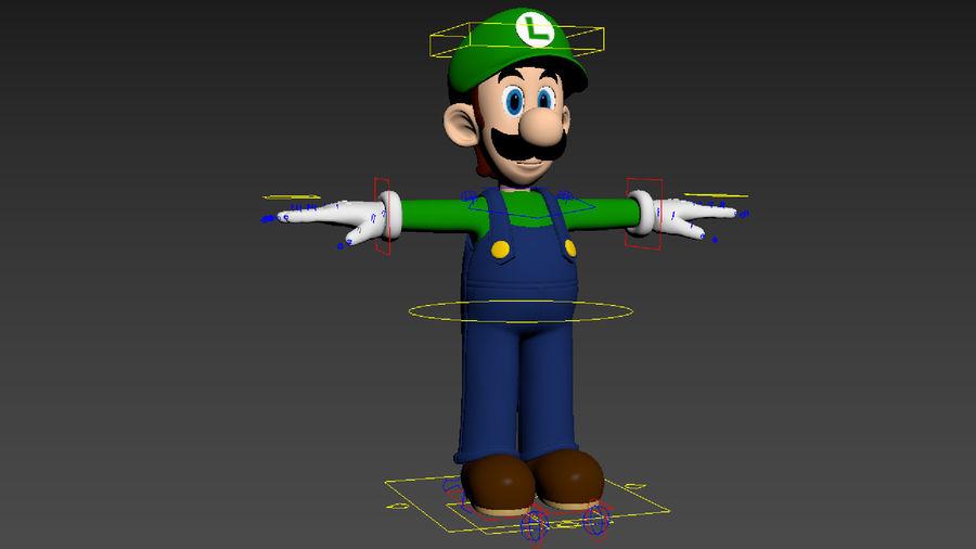 Personaggio Luigi truccato royalty-free 3d model - Preview no. 15