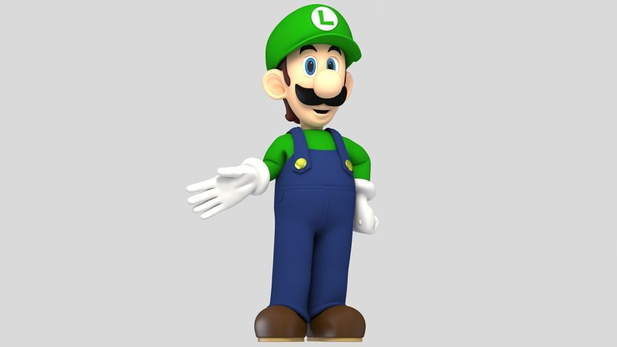 Personaggio Luigi truccato royalty-free 3d model - Preview no. 2