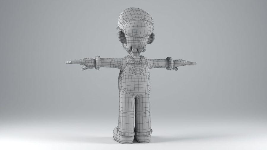 Personaggio Luigi truccato royalty-free 3d model - Preview no. 18